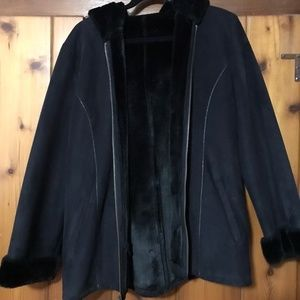 Warm winter coat in Black